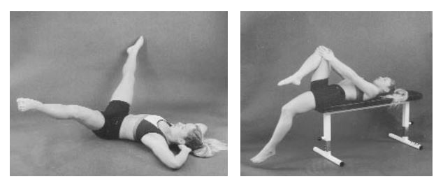 Stretches for tight one-joint hip flexors