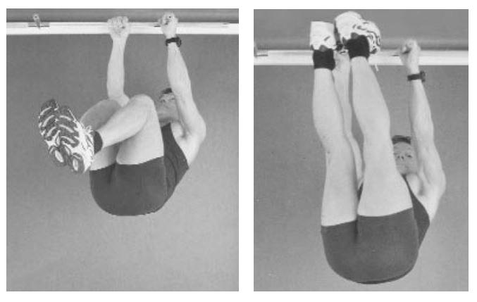 Basic tests for abdominals/hip flexor strength.