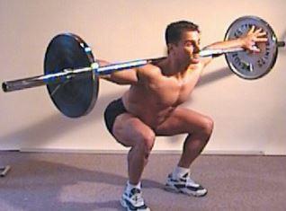You gotta squat! Franco Cavaleri shows the correct form.